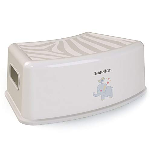 BABYLON Tiger aburetes bajos banco baño taburete bajo cocina taburete bajo taburete baño, gris