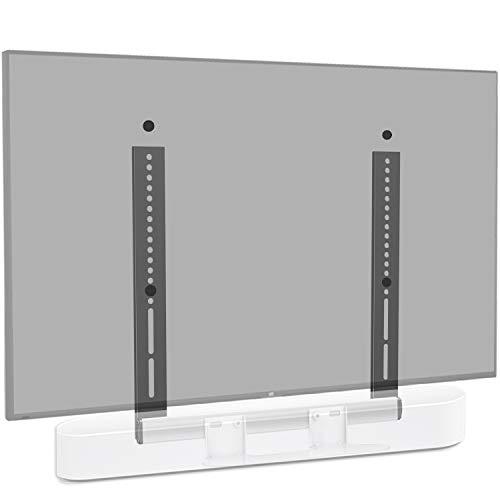 Mounting Dream Soundbar Halterung speziell für SONOS Beam, für Fernseher VESA bis 600x400mm, mit Gleitblock, an TV, TV-Halterung montieren (weiß)