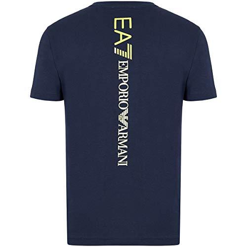 Emporio Armani Camiseta para hombre EA7 6GPT15 PJ02Z, manga corta, cuello redondo