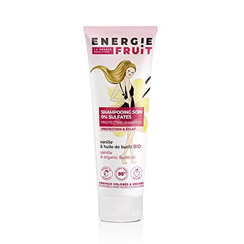 ENERGIE FRUIT | Shampoing sans Sulfate | Vanille & Huile de Buriti BIO | Cheveux Colorés...
