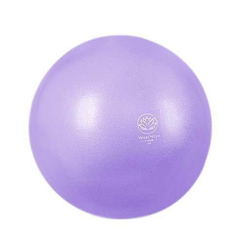 TONG Mini Bola de Yoga, for Principiantes, Engrosamiento a Prueba de explosiones, Bola de Ejercicios, Bola de Equilibrio, recuperación posparto, Bola de Pilates Forma (Color : Purple)