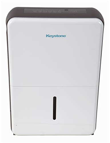 Keystone White 50-Pint Dehumidifier Gray