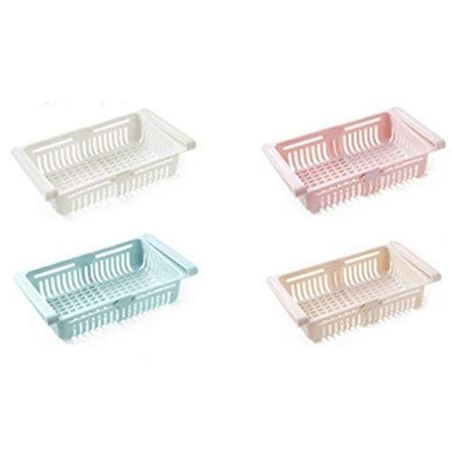 YKSO Caja de almacenamiento multifuncional para nevera, caja de almacenamiento extraíble para nevera, cesta de almacenamiento