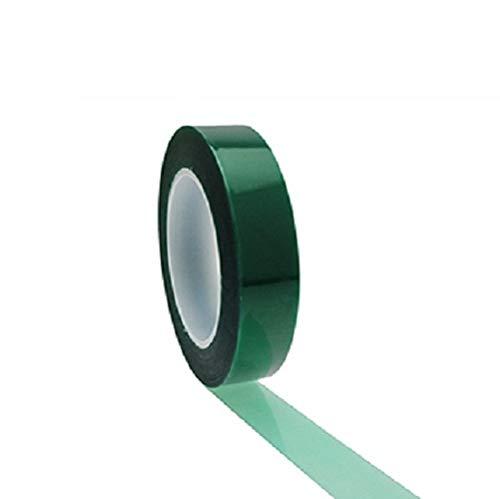 Lot de 3 rouleaux de ruban adhésif vert en polyester 9,5 mm x 66 m, revêtement en poudre, ruban de masquage haute température, ruban de masquage vert