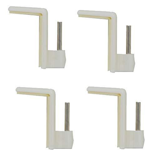 Ganchos autoadhesivos cromado para barras de cortina extensibles, cada gancho Supporta + 500 Gr, x 4