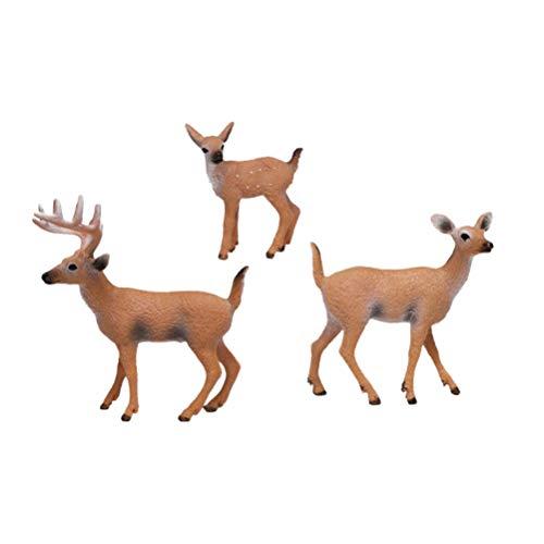 YeahiBaby 6 figuras de juguete de ciervo para niños