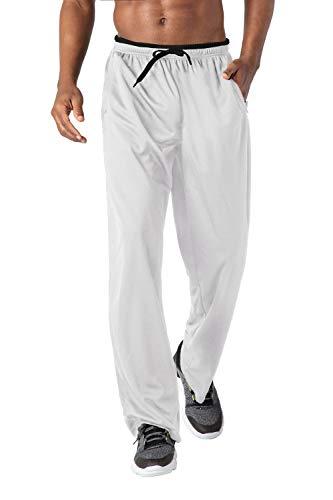 KEFITEVD Loungehose Herren Lang Weich Schlafanzughose Ohne Bund Leicht Sleep Bottom Sommer Loungewear Männer Pyjamahose Lang Größe Weiß-Schwarz XL
