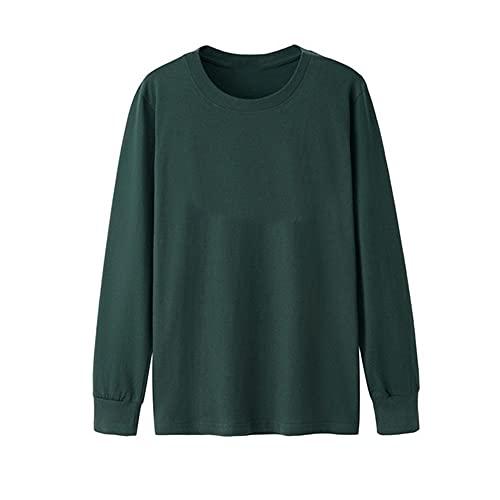 N\P Camisa de los hombres de manga larga completa otoño más tamaño casual liso