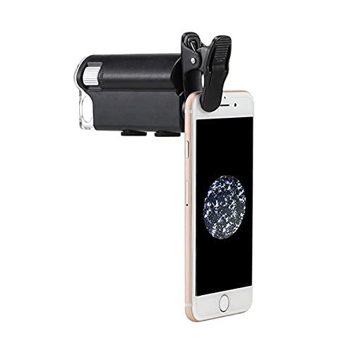 Microscopio Mini 60-100 Veces con Luz Violeta LED Ligera Y Luz Blanca - Can Clip Fot Focus Fot Fot Grown