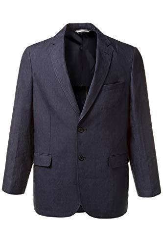 JP 1880 Herren große Größen bis 66   Leinen-Sakko   Blazer in dunkelblau   Knitterfrei, 2 Knöpfe & 3 Taschen   leichtes Futter   Navy 32 708613 70-32