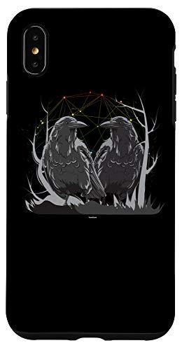 iPhone XS Max Huginn Muninn Odin Norse Mythology Ravens Case