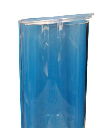KUS Kunststofftechnik Plexiglas Plexiglasrohr XT ø 200/194 mm, L = 1000 mm / 1 Meter mit Deckel und verklebtem Boden