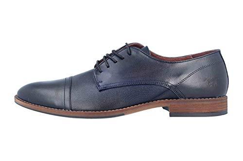 MUSTANG - Zapatos de Cordones de Piel para Hombre, Color Azul, Talla...