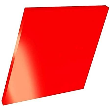 Timios Retails Plexiglass 2mm Acrylic Square Sheet (Red, 12 x 12 Inch, Pack of 1)