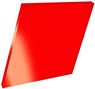 Timios Retails Plexiglass 2mm Acrylic Square Sheet (Red, 24 x 16 Inch, Pack of 1)