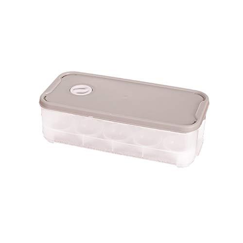 Aunye Eierkartons - Kunststoff Eierboxen mit Deckel für 10 Eier - Egg Tray Eierbehälter Multifunktionsbox,Eierschachteln Kühlschrank Lagerung,Eierbox mit Deckel zum Outdoor Picknick Camping (Khaki)