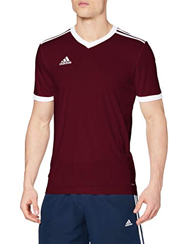 Adidas TABELA 18 JSY T-shirt, Hombre, Maroon/ White, L