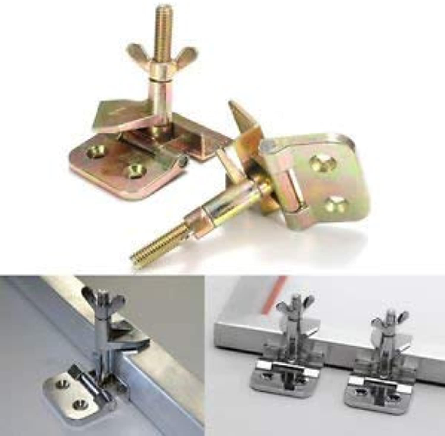 2pcs Silk Screen Printing Hinge Clamp Stainless Steel DIY Hobby Clip Tool