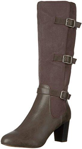 Bella Vita Women's Talina Ii Harness Boot, Grey Burnish, 10 W US