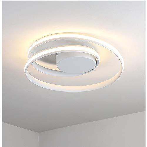 Ronde led-plafondlamp voor slaapkamer, eenvoudig en modern. Verlichting draaibaar zwart wit verduistering willekeurig