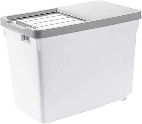 Storage jar Keuken Storage Box Voedsel Container van de Opslag - Huishoudelijke Sealed Insect-Proof Rice Bucket - Rice Storage Box - Plastic vochtbestendige 15kg -Opslag doos keuken