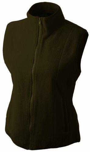 James & Nicholson Damen Girly Microfleece Vest Weste, Braun (braun), 34 (Herstellergröße: S)
