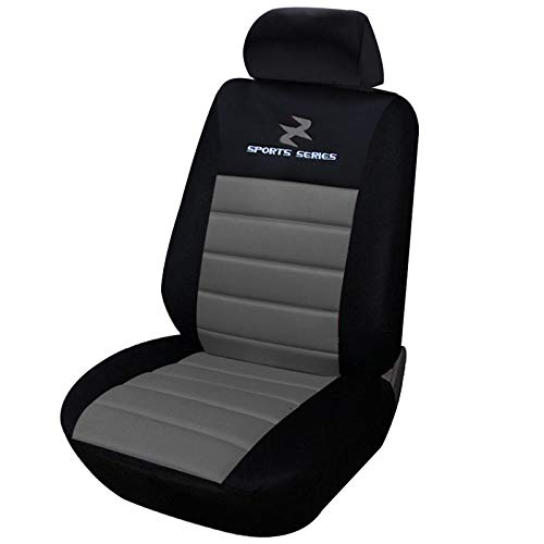 eSituro SCSC0069 1er Einzelsitzbezug universal Sitzbezüge für Auto Schonbezug Schoner Dicke gepolstert grau