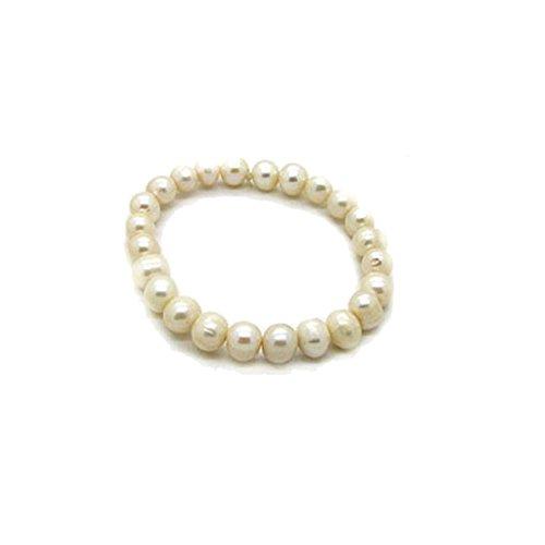 Enez Echt Süßwasser Zucht Perlenkette Armband Armkette 190 x 9-10mm Collier R1273
