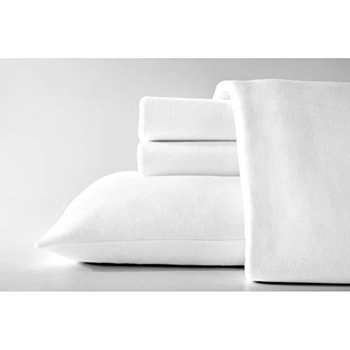 Dormisette Luxury German Flannel Ultra-Soft 6-Ounce Sheets Set White Full