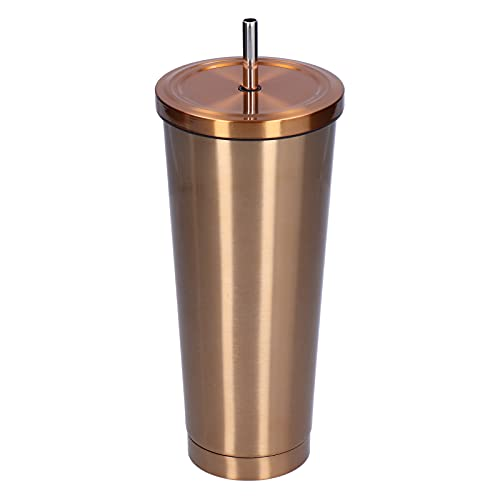QIRG Taza de vacío, Botella de Agua aislada para Regalo para Oficina para el hogar para Viajes(Golden)