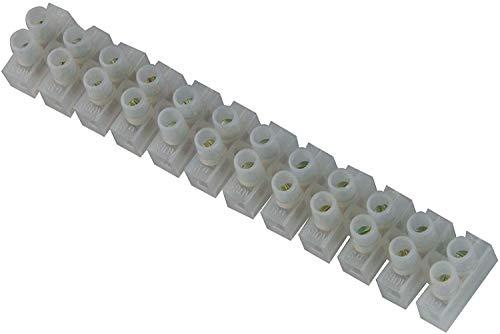 Preisvergleich Produktbild UNITEC Lüsterklemme 10 Stück / 12 polig / bis 380 Volt einsetzbar / 1, 0 - 4, 0 mm² / transparent