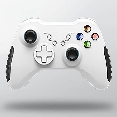 Zexrow Mando para Nintendo Switch, Mando Pro Controller Mando Pc Inalambrico con Función Gyro Axis/Dual Shock Y Turbo Compatible con Nintendo Switch (Color : Wireless White)