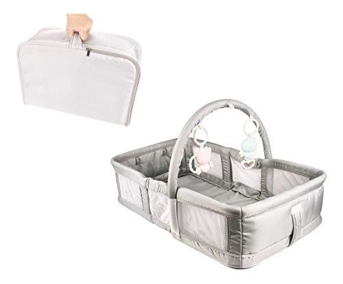 Berço Portátil Para Bebês Dobrável Ninho Baby Com Mobile, DM Toys
