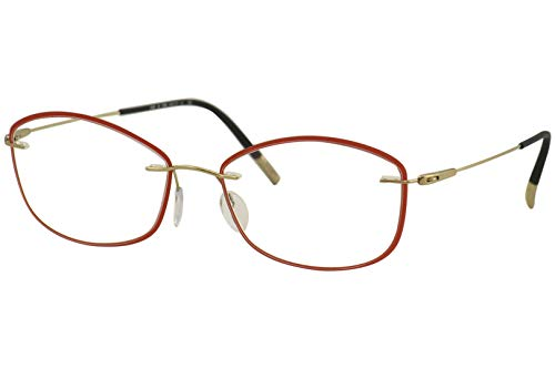 Silhouette Gafas de Vista DYNAMICS COLORWAVE ACCENT RINGS 5500/JB RED 54/17/0 mujer