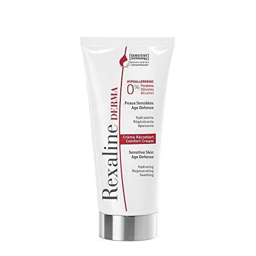 Rexaline - Crème Réconfort - Hydratante - Régénérante - Apaisante - Crème visage dermatologique et hypoallergénique - Crème anti-rougeur, anti-irritation - Acide Hyaluronique – Peau sensible - 50ml