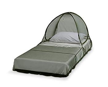 Care Plus Moustiquaire Imprégnée, 1 Personne, Voyage et Camping, Imprégnation Longue Durée, Pop-Up Dome, Verte