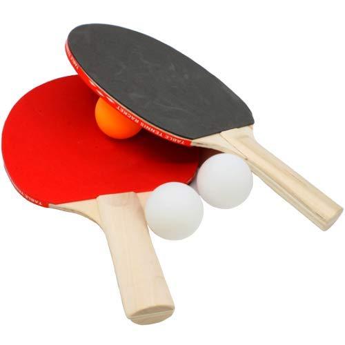 TOY-STORE Ping Pong, Set Ping Pong, Table Tennis Ping Pong Set - Bats And Balls, Kit Racchette più Palline, Set 3 Balls, Set 3 Palline + Racchette