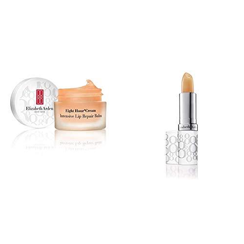 Elizabeth Arden Eight Hour Intensive Lip Repair Balm,  11.6 ml & Eight Hour Cream Lip Protectant Stick SPF 15  Transparent, 3.7 g