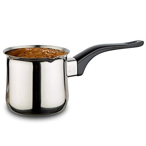 NAVA Schmelztiegel Türkische Kaffeekanne aus Stahl für die Zubereitung von Türkischem Kaffee 500 ml