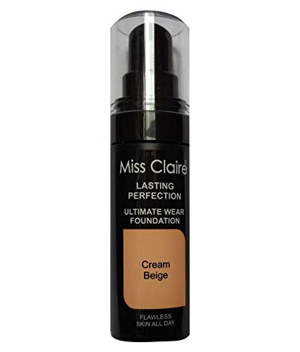 Miss Claire Lasting Perfection Ultimate Wear Foundation, 20 Light Beige,...