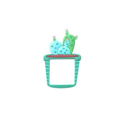 Vektenxi - Adhesivo de Pared Bonito Cactus, Interruptor extraíble, para salón, Dormitorio, luz Nocturna, decoración