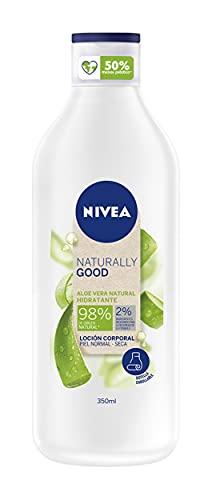 NIVEA Naturally Good Loción Corporal Aloe Vera Hidratante Piel Normal y Seca 350 ml