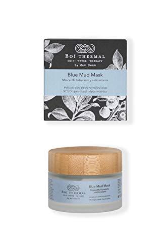 Boí Thermal Blue Mud Mask. Mascarilla Facial Hidratante y Antioxidante. Mejora Elasticidad Y Luminosidad. Pieles Normales Y Secas. Cosmética Natural Y Vegana. Apto Pieles Sensibles. 50 ml