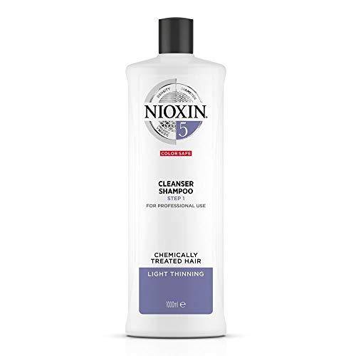 Nioxin Shampoo Sistema 5 per Capelli Trattati Chimicamente e Leggermente Assottigliati, Formato Convenienza - 1 L