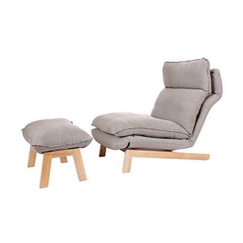 Sofá de salón con chaise longue ajustable de 14 posiciones, sofá plegable perezoso y una silla de juego acolchada con almohada para sala de estar, sofá individual para sala de...
