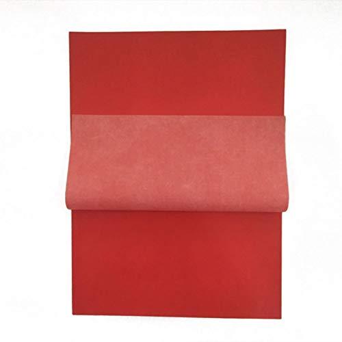 100 hojas de papel de transferencia de carbono rojo para copia | Papel de carbono de alta calidad
