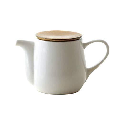 ティーポット 白 陶器 おしゃれ 茶こし付き 急須 和風 洋風 モダン 無地 かわいい シンプル デザイン 美濃...