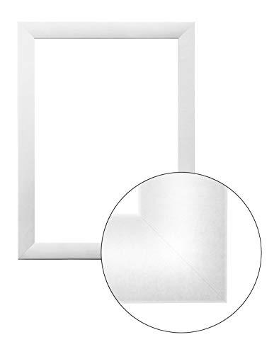 FramoLUXUS 61 cm x 91 cm MDF Holz Bilderrahmen in Farbe Weiß matt