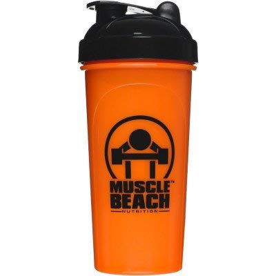 Muscle Beach Nutrition Custom Collection Shaker Cup - Protein Drink Shaker Bottle - Leak Proof Supplement Mixer for Smoothies and Shakes   Perfect Powder Mixer for Pre and Post Workout, Travelling, Exercise & Trekking