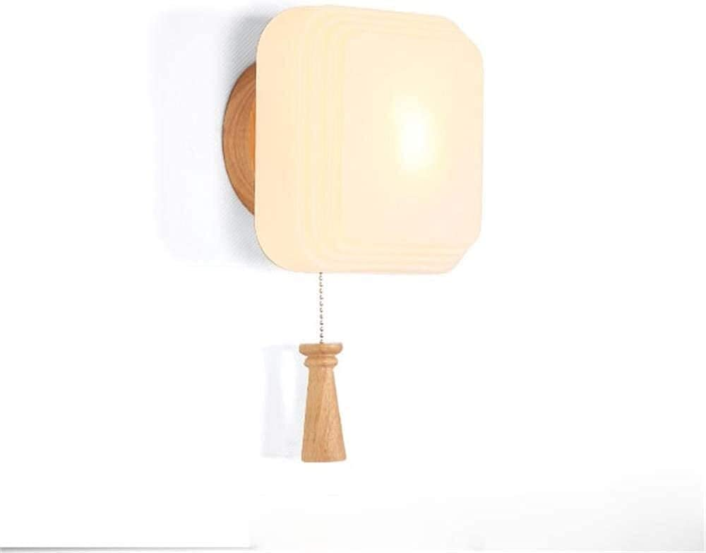 NZDY High Luxury goods quality Simple Modern Wood Color Bedroom Lamp Bedsid Wall
